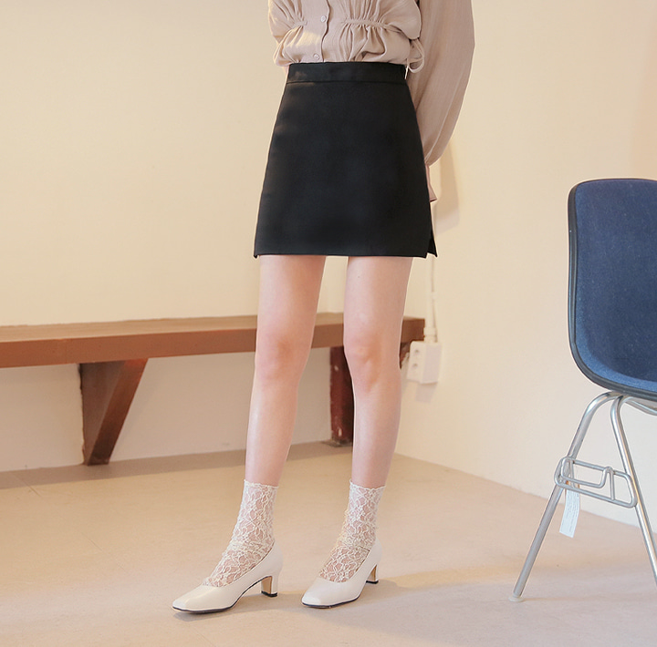 [SKIRT] SIDE SLIT COTTON PANTS SKIRT
