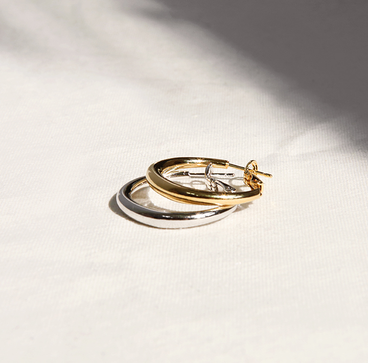[JEWELRY] ROAD MINIMAL RING EARRING