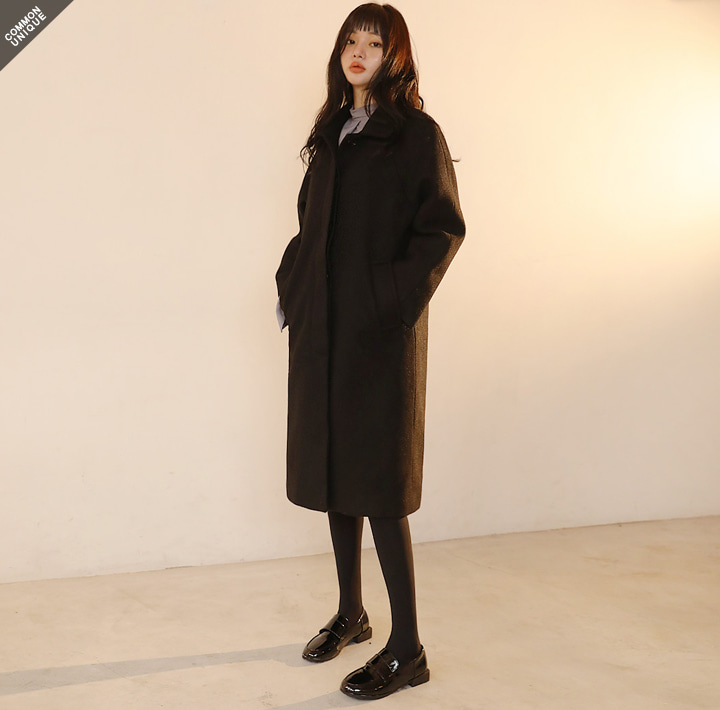 [OUTER] STANDING WOOL 40% RAGLAN COAT