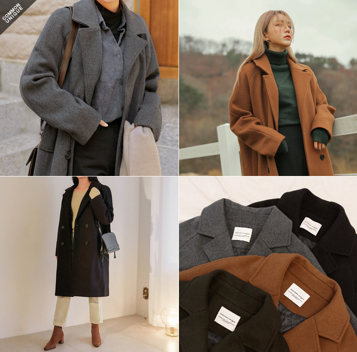 [OUTER] SOME RAGLAN DOUBLE COAT