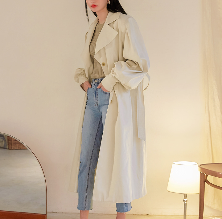 [OUTER] REVLIN BALLOON TRENCH COAT