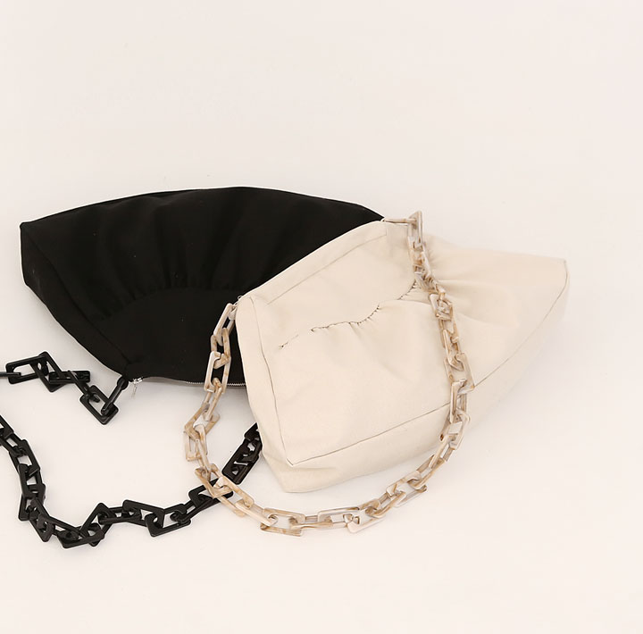 [BAG] LUMINOUS SHIRRING CHAIN BAG
