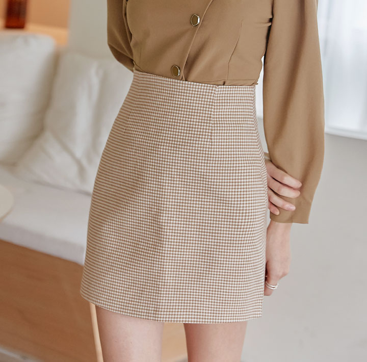 [SKIRT] CORIN HOUND CHECK SPAN MINI SKIRT