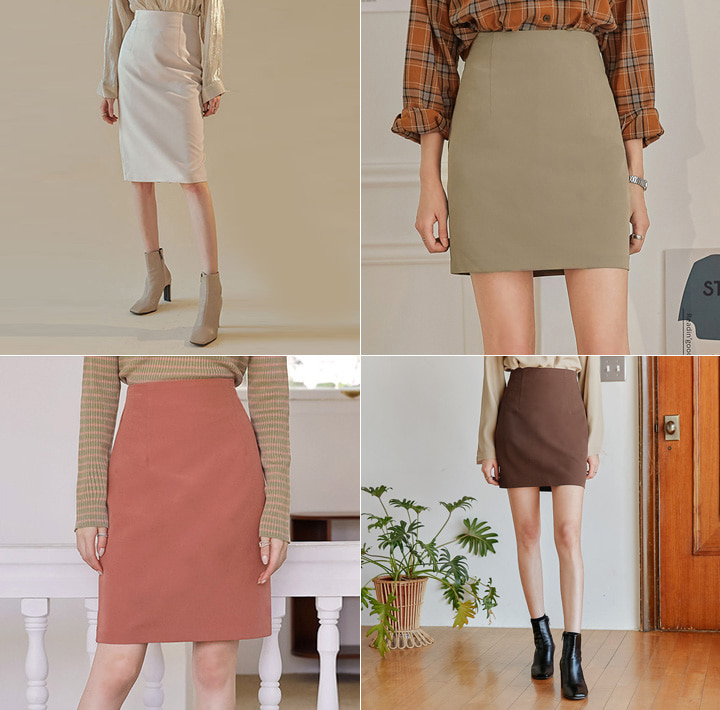 [SKIRT] HAILIN BASIC H LINE SKIRT - 3 TYPE