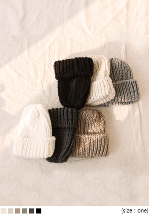 [ACC] 6 COLOR THICK KNIT BEANIE