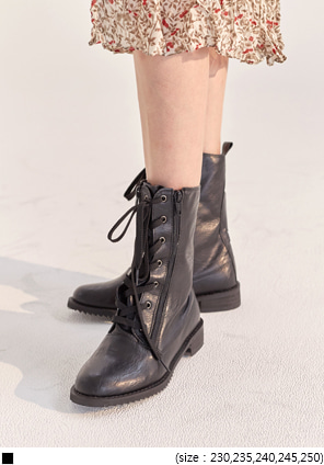 [SHOES] VINTAGE TWO ZIPPER HIGH WALKER