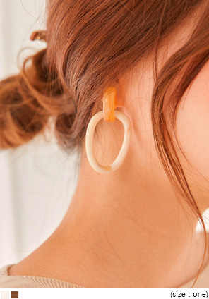 [JEWELRY] HALL MARBLING RING DROP EARRING