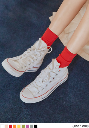 [ACC] 9 COLOR RAINBOW RAYON HIGH SOCKS