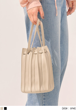 [BAG] COSTE 2 WAY PLEATS LEATHER BAG