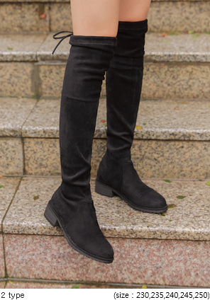 [SHOES] STRING THIGH HIGH BOOTS - 2 TYPE