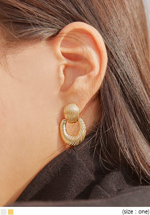 [JEWELRY] CLAVI MATT DROP EARRING