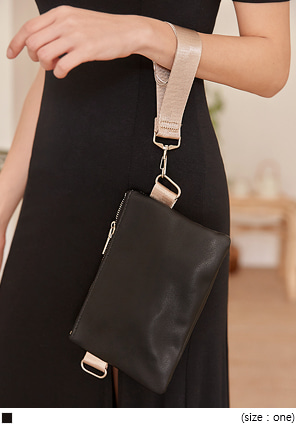 [BAG] THINK 2 WAY SQUARE LEATHER BAG