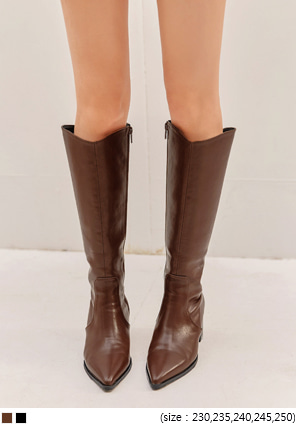 [SHOES] LEATHER WESTERN LONG BOOTS