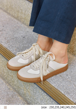 [SHOES] MOSCA SUEDE MIX MULE SNEAKERS