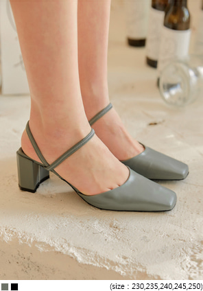 [SHOES] GERS SQUARE DOUBLE STRAP HEEL