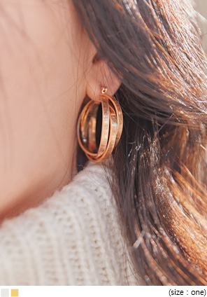 [JEWELRY] ANTIQUE TWIST BOLD RING EARRING