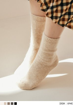 [ACC] 5 COLOR ANGORA HIGH SOCKS