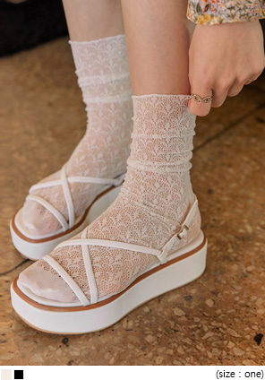 [ACC] TEENS SEETHROUGH LACE SOCKS