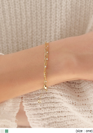[JEWELRY] TICY GOLD BEADS CHAIN BRACELET