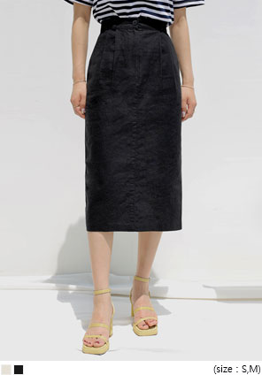 [SKIRT] HENCE LINEN PINTUCK MIDI SKIRT