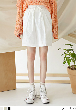 [SKIRT] NYLON SET-UP BANDING MINI SKIRT