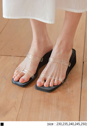 [SHOES] KYGO CLEAR WEDGE SLIPPER