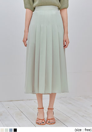 [SKIRT] TRION PLEATS BANDING LONG SKIRT