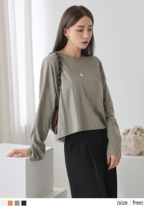 [TOP] MUSS BASIC ROUND COTTON T